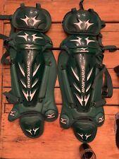 "Mizuno Samurai Shin Guards 15.5"" Green/White New DryLite NEVER USED/ But Demoed"