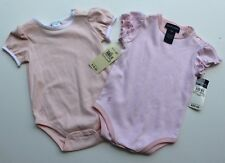 NWT Girls RALPH LAUREN POLO 2 Pink & Stripe Shirt / One Piece size 9 Months LOT