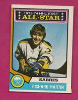 1974-75 OPC  # 127 SABRES RICHARD MARTIN ALL STAR  CARD