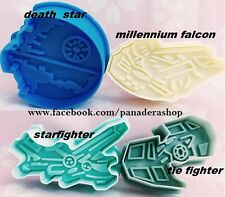 Star Wars Spaceships Cookie Fondant Clay Cutter Plunger Mold Molder Bento Set