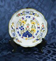 Wall Plate - Menegatti Italian Pottery - Vintage Majolica Flowers