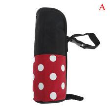 Insulated baby bottle bag,Thermal bottle Warmer,Bottle bag,Grey Spotty Oilcloth