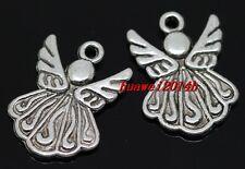 10/40/240pcs Tibetan silver angel Jewelry Finding Charms Pendant 22x15mm