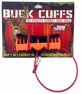 Buck Cuffs Orange Hunting Season Deer Drag Outdoors Easy Grip Hooves