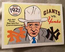 """1968 Fleer Giants Vs. Yankees Baseball Card #18 """"1921 World Series"""""""
