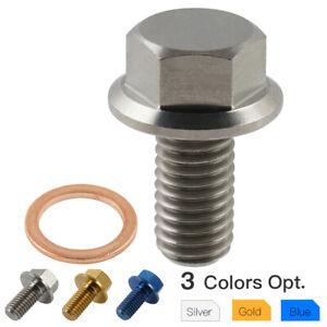 Crankcase Oil Drain Plug Flange Bolt Screw For Yamaha RAPTOR 250 350 2008-2012