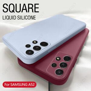 Case For Samsung Galaxy S21 Ultra A52 A72 A32 S20 FE A50 Liquid Silicone Cover