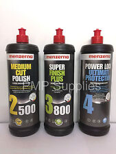Menzerna 1 Litre Pack Medium 2500 Final Finish 3800 with Power Lock Ultimate