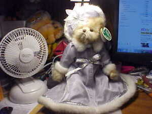 """Bearington Collection Series Limited 9"""" Tall Girl Bear in Silver"""
