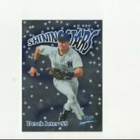 1999 Fleer Brilliants Shining Stars Derek Jeter Insert Card #4 NY Yankees HOF SS