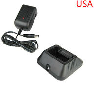 Original desktop charger + PSU for UV-5R dual band radio USA