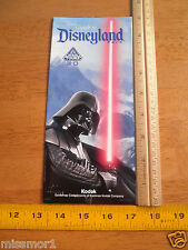 Disneyland Daily activities foldout map Star Tours 3D 2012 Darth Vadr park guide