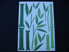 sticker géant 170cm déco ZEN pousses de bambou à disposer selon votre surface