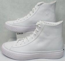 New Mens 10 Converse CTAS Modern Hi White Leather Shoes 157199C $140