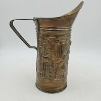 Peerage Brass Embossed Pitcher Made In England