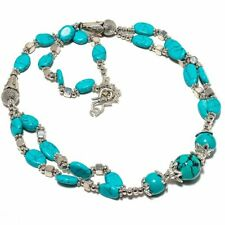Santa Rosa Turquoise Gemstone Beaded Jewelry Necklace 18""