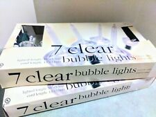 Clear Bubble Lights Christmas 2 Boxes 7 Per Box Silver Glitter Bubbles Indoor