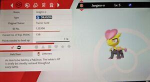 Shiny Jangmo-o 6IV Max EVs Competitive Pokemon Sword Shield FAST DELIVERY