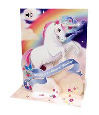 Popshots 3D Pop-Up Sound Musical Greeting Card Birthday Unicorn and Rainbow …