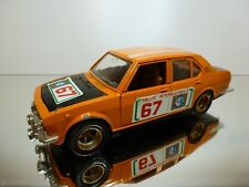 MEBETOYS 8584 ALFA ROMEO ALFETTA RALLYE #67 - ORANGE 1:25 RARE - GOOD CONDITION