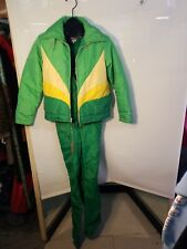 Women's Vintage Snowsuit Bib Overalls And Jacket Gerry Large