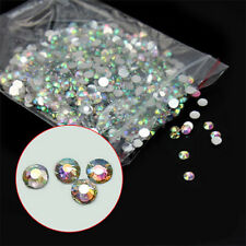 1000Pcs/Set 14 Facets Resin Rhinestone Gem Flat Back Crystal AB Beads 3mm DIY
