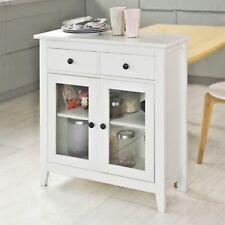 White Display Cabinet Dining Storage Sideboard Hallway Console Kitchen Cupboard