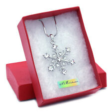 Snowflake Winter Christmas Bridesmaid Bridal Wedding Jewelry Necklace Pendant
