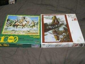 2 Puzzles SEALED Ceaco Artist Frank McCarthy (THE CHIEFS)  Roseart BEV DOOLITTLE