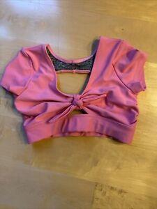 five dancewear bra top pink sz YXL