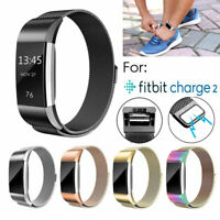 Stainless Steel Replacement Spare Band Strap For Fitbit Charge 2 Small & Large