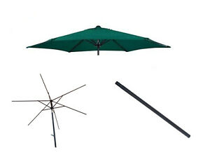 Gardensity 2.7m Parasol with Tilt Canopy Pole Frame Replacement Spare Parts