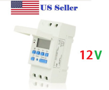 AC12V 16A Digital LCD DIN Programmable Weekly Rail Timer Time Relay Switch