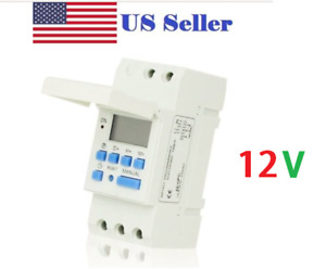DC12V 16A Digital LCD DIN Programmable Weekly Rail Timer Time Relay Switch