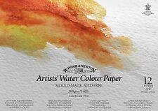 Winsor & Newton Artists Acuarela Pintura Almohadilla de papel engomado 300gsm CP A3