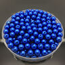 NEW 4mm 200Pcs Blue Acrylic Round Pearl Spacer Loose Beads Jewelry Making