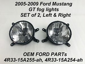 Clear oem front driving fog light/lamp pair for 2 4r33-15a255-ah, 4r33-15a254-ah