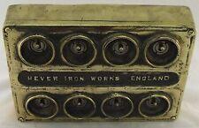 NEW Brass 8 Gang Vintage Industrial Light Switch - BS EN Approved
