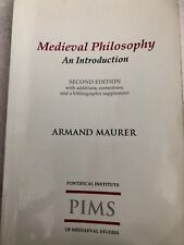 Medieval Philosophy by Armand A. Maurer (English) Paperback Book Second Edition