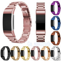 Luxury Retro Stainless Steel Bracelet Smart Watch Band Strap For Fitbit Charge2