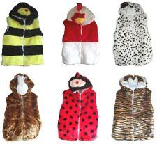 New Kids Boy's Girls Faux fur Animal Chicken Bee Tiger Warm Gilet Jacket Top