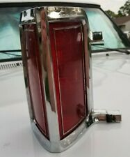1975-79 Lincoln Continental Town Car LEFT Drivers Side Tail Light & Chrome Bezel
