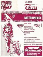 W0800 Motoculteur MOTOSTANDARD - Pubblicità 1962 - Advertising