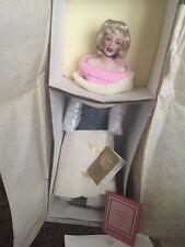 Marilyn Monroe Franklin Mint Porcelain Heirloom Doll Sweater Girl NIB