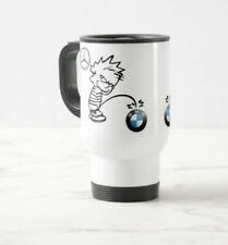 mercedes bmw piss travel thermo mug fun gift 14oz