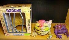 Boglins Duo - Vintage Mattel puppets, DOINK + smaller one - (bilingual box)