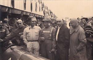 TEAM ALFA ROMEO WORKS TEAM DAILY EXPRESS MEETING SILVERSTONE MAY 1951 PHOTO.