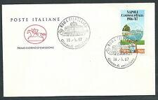1987 ITALIA FDC CAVALLINO NAPOLI CAMPIONE ITALIA CALCIO NO TIMBRO ARRIVO - CV198