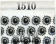 "100 PACK 8-BALLS 1510 Apple Ziplock Baggies 1.5X1.0"" Mini POLYBAGS"