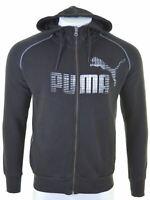 PUMA Mens Hoodie Sweater Medium Black Cotton  JA09